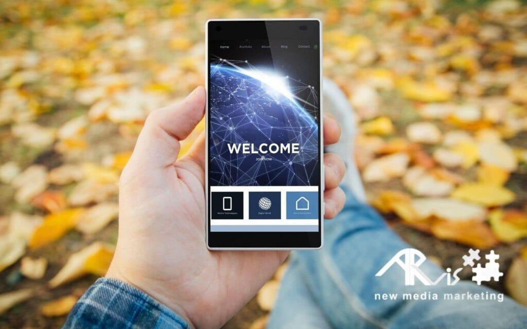 Fruizione di sito web da dispositivo mobile